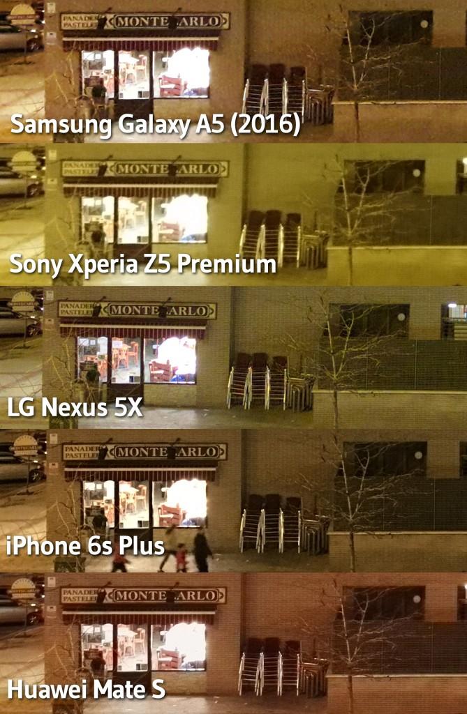 Noche - comparativas fotos
