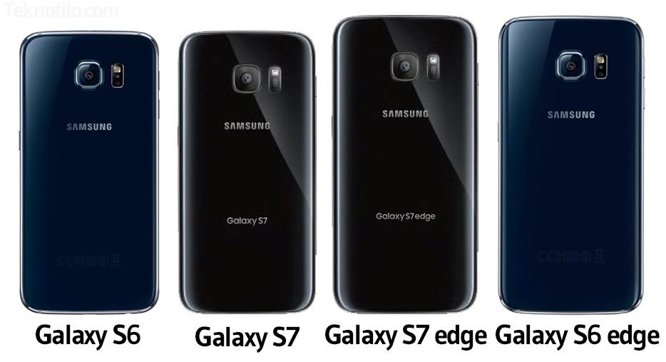 comparativa galaxy s6 y s7 atras