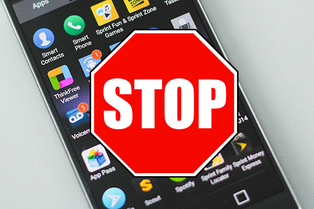 stop apps