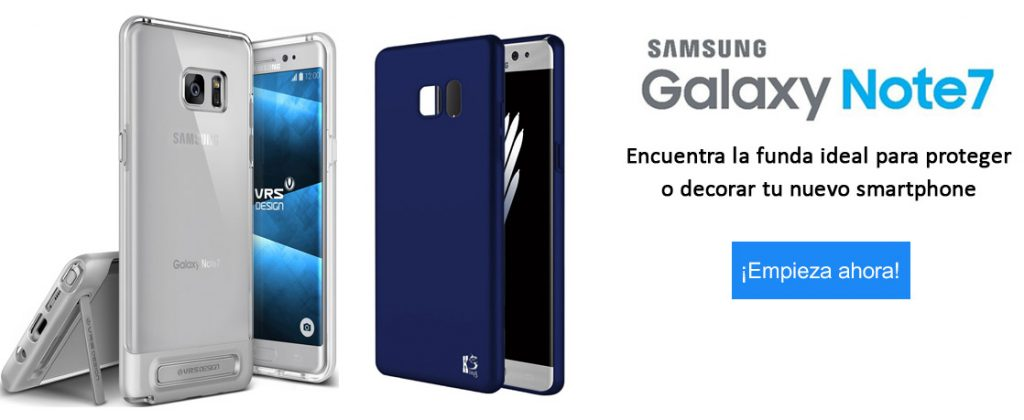 anuncio funda samsung galaxy note 7
