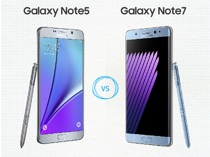 galaxy note 5 vs galaxy note7