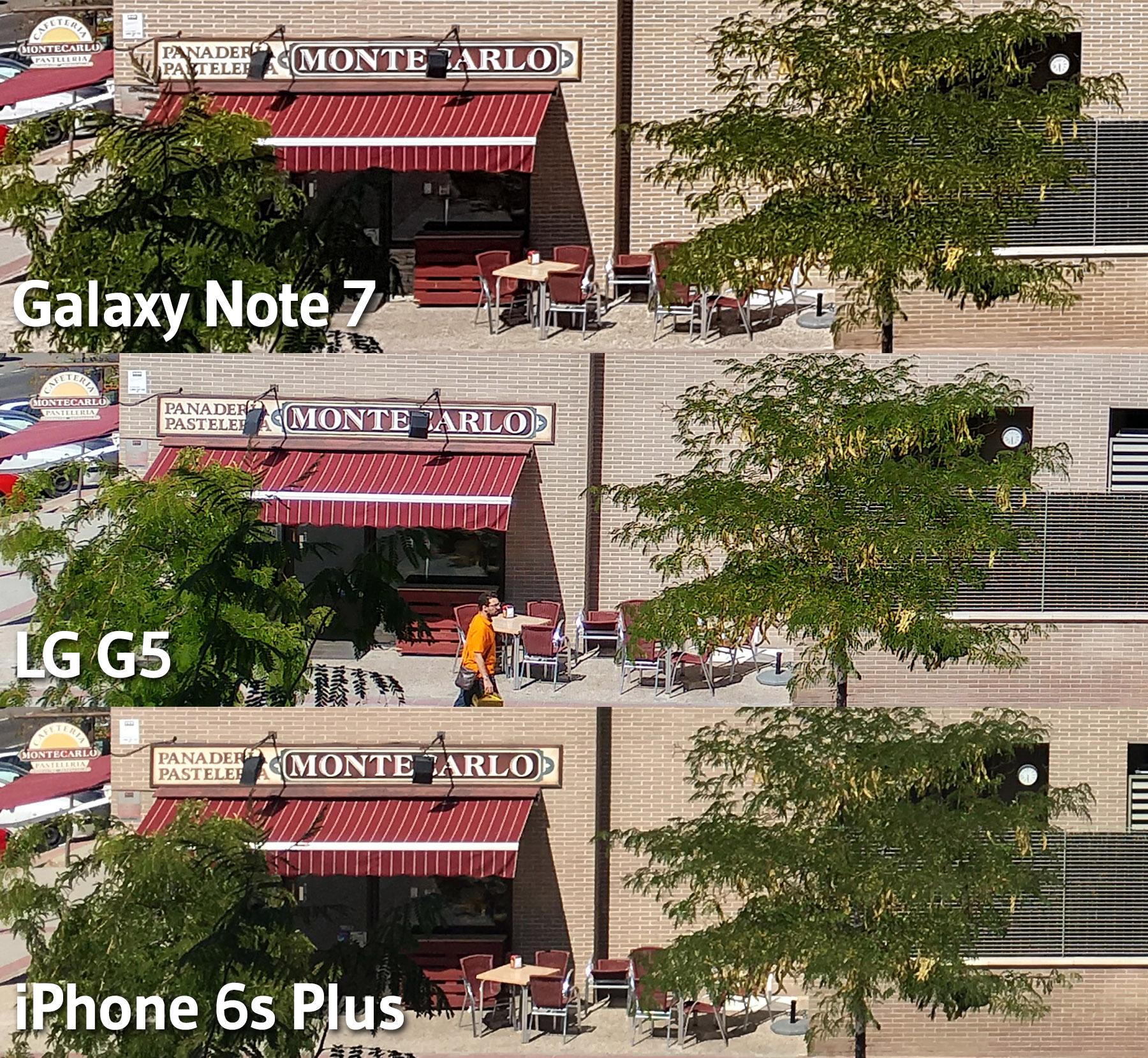 Comparativas fotos dia - Galaxy Note 7 - LG G5 - iPhone 6s Plus