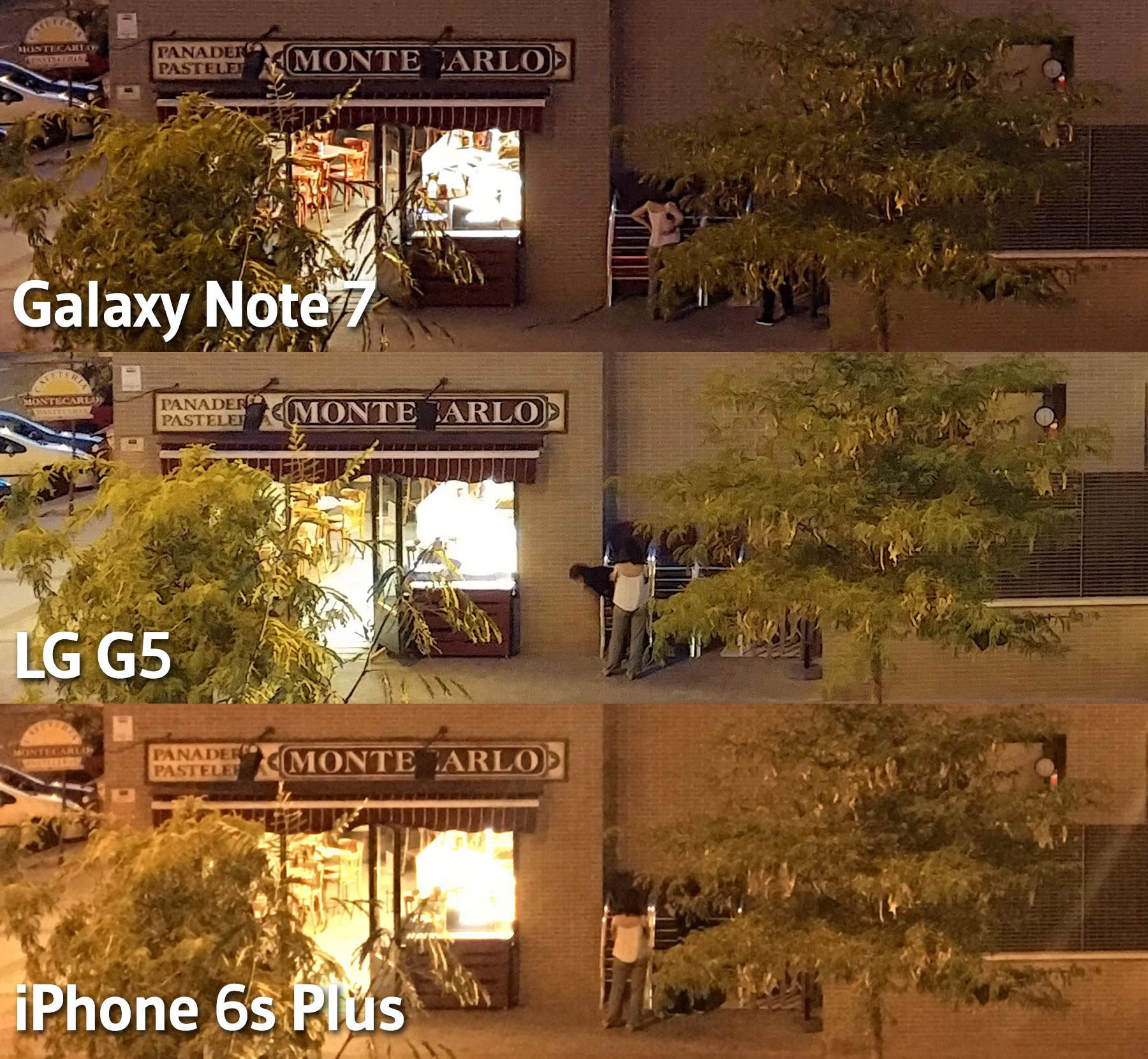 Comparativas fotos noche - Galaxy Note 7 - LG G5 - iPhone 6s Plus