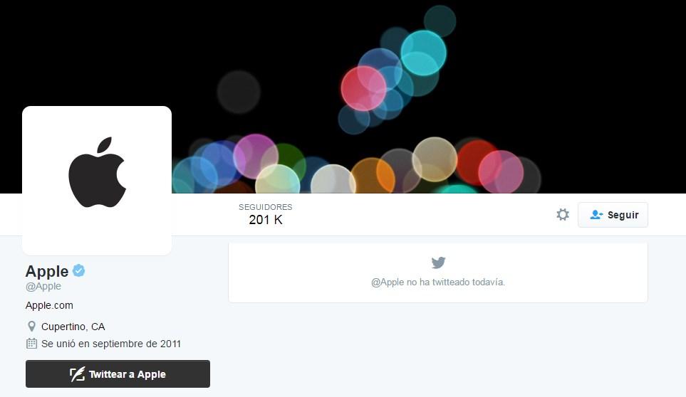 cuenta twitter apple