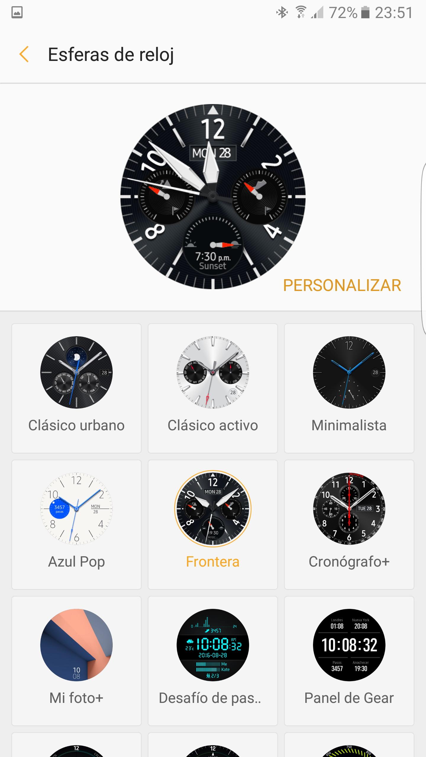 a6176e80b56e Desde la aplicación Samsung Gear podemos seleccionar las aplicaciones cuyas  notificaciones llegarán hasta el reloj. Además tenemos opciones para  limitar las ...