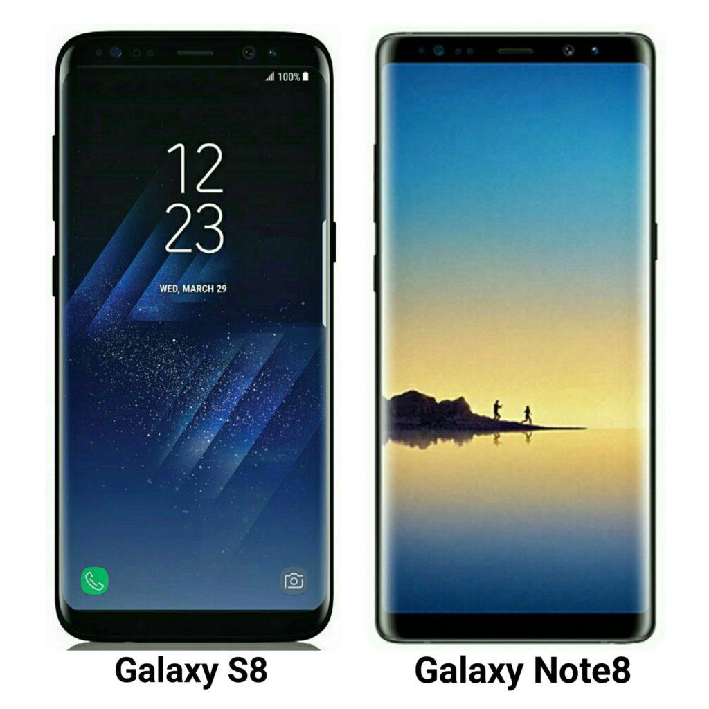 Samsung Galaxy S8 vs. Samsung Galaxy Note 8