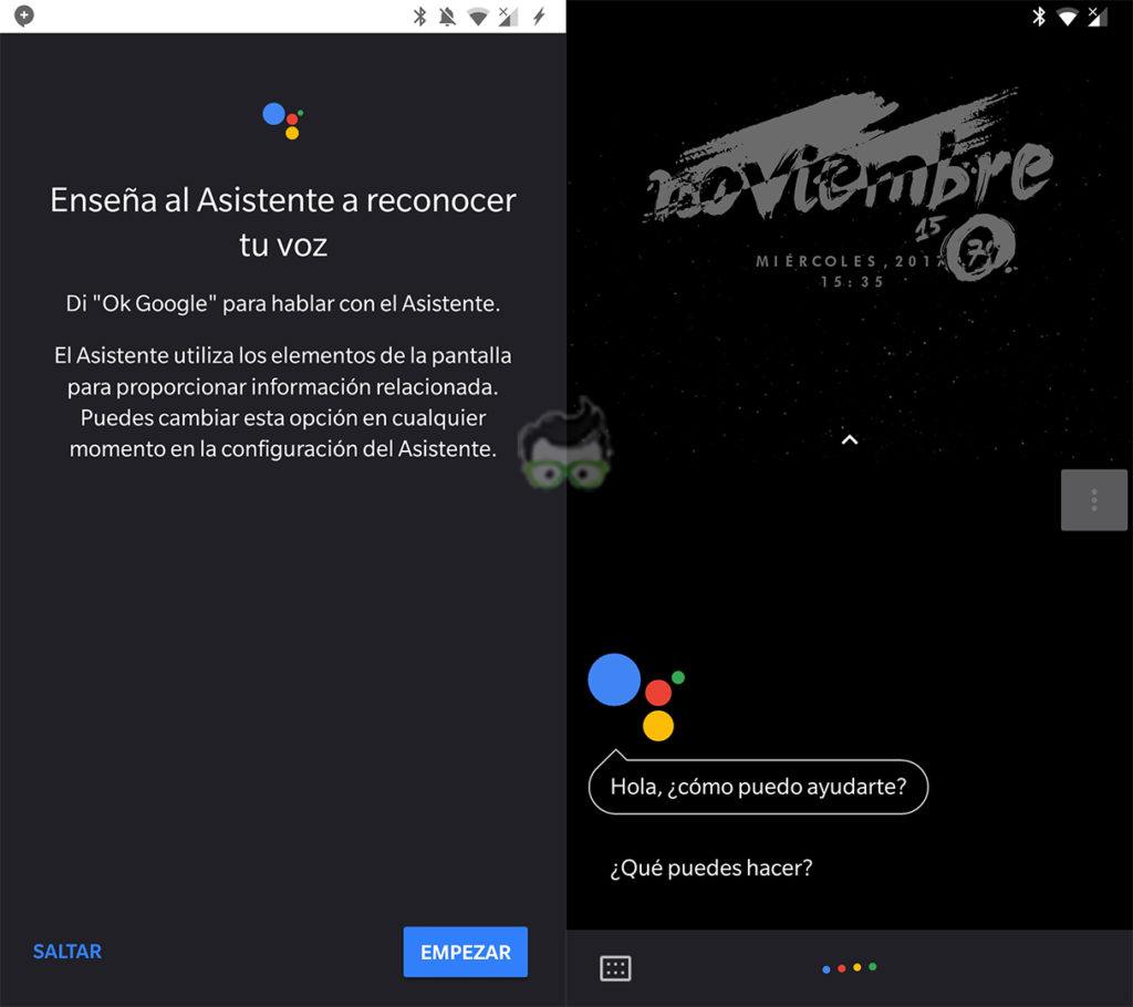 Google Assistant saluda