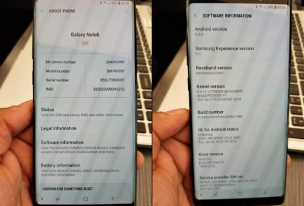 Android Oreo en el Samsung Galaxy Note8