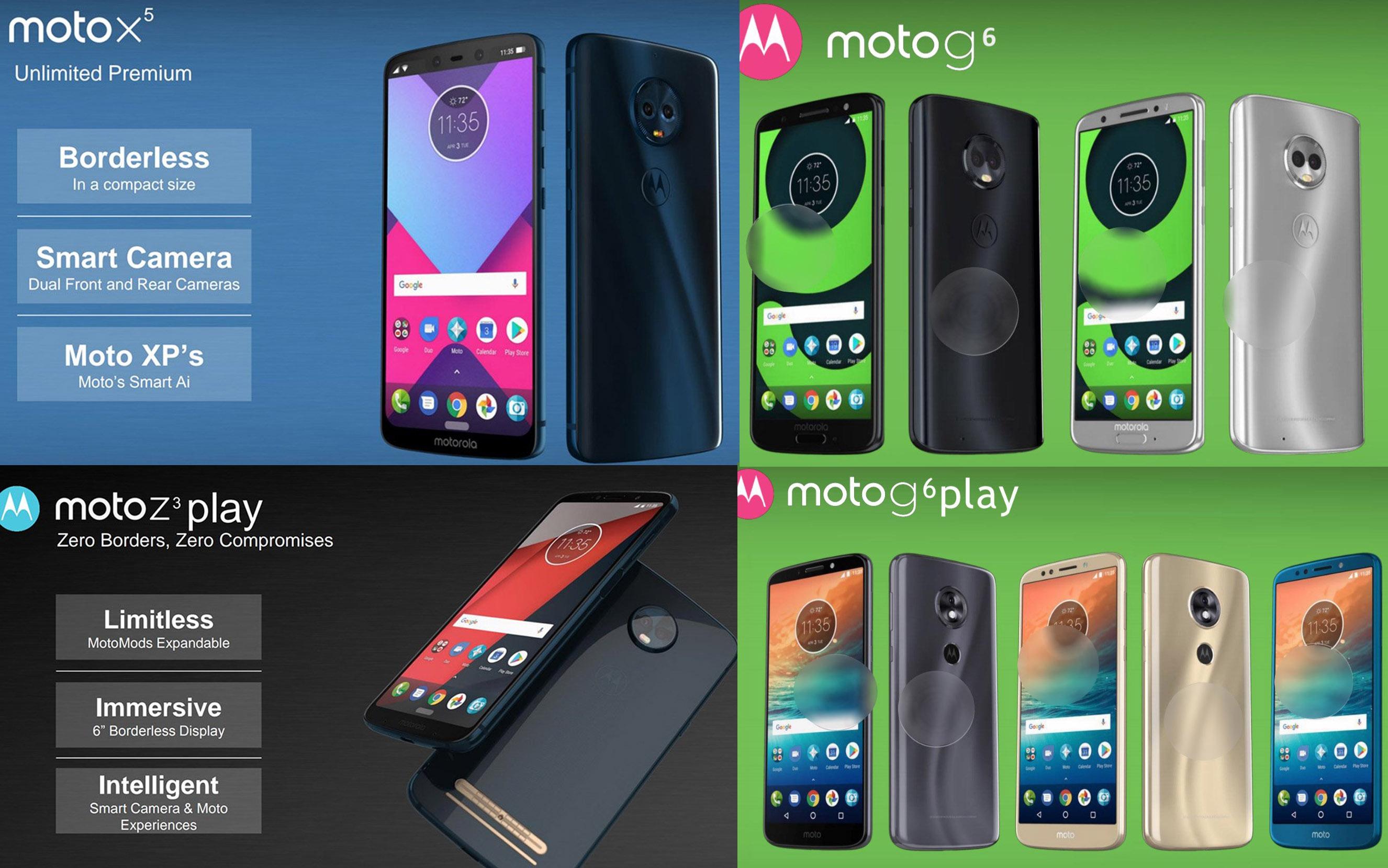 Las imágenes filtradas del Moto X5, G6, G6 Plus y Z3 Play parecen ...
