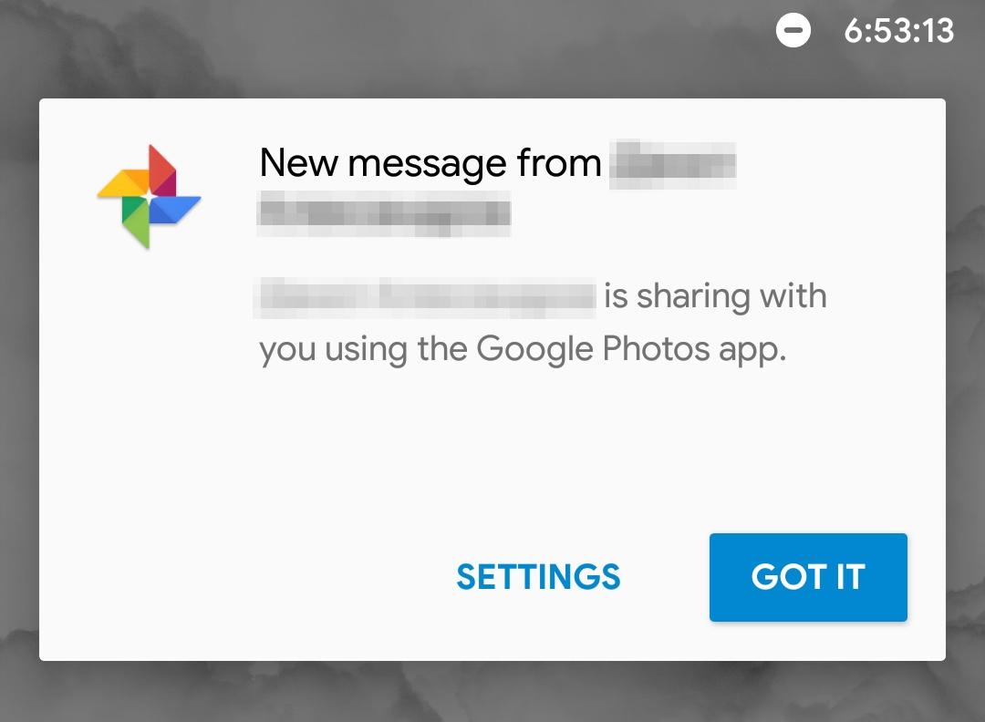 Mensajes de Google Fotos