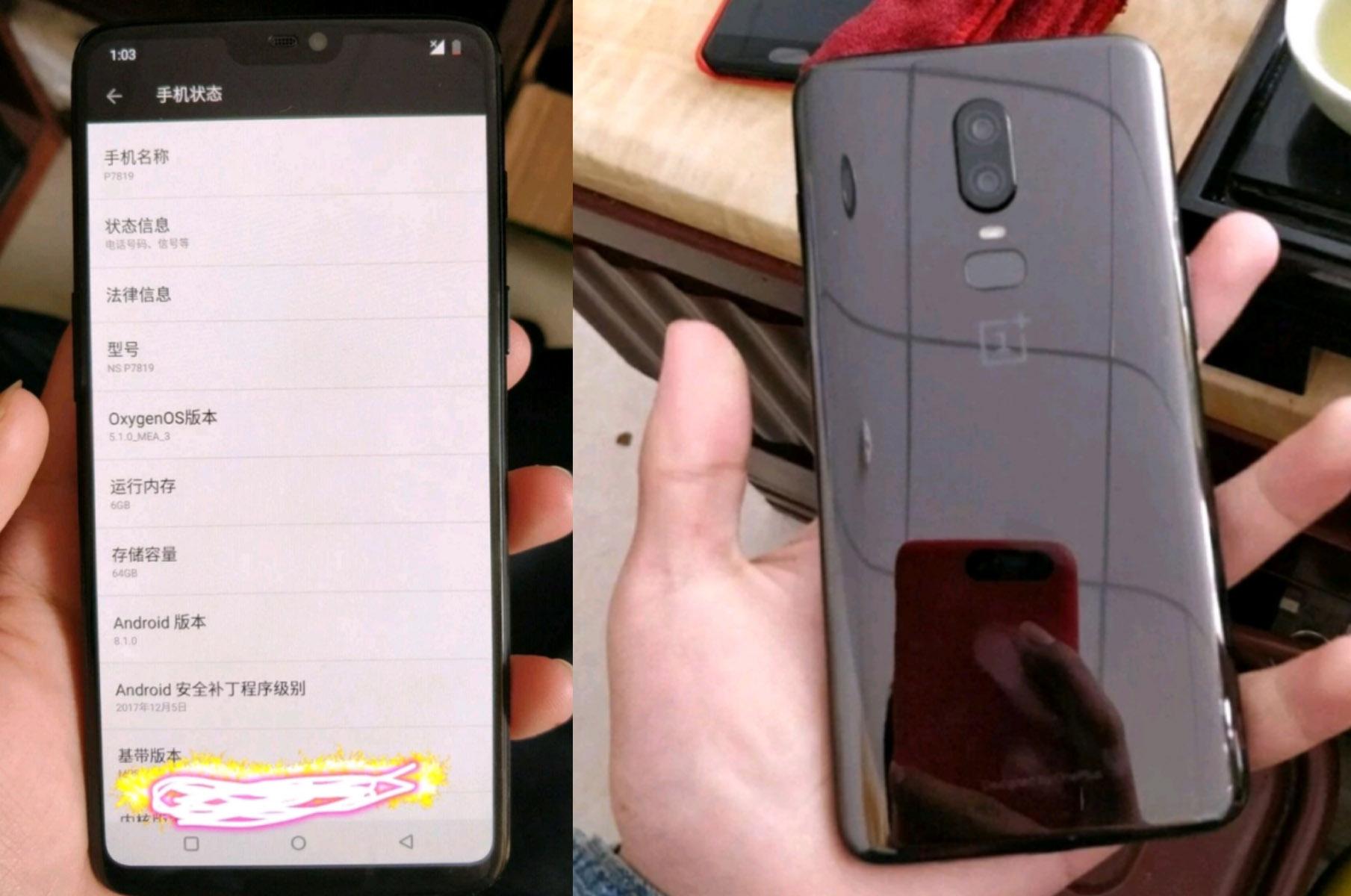 """La pantalla del OnePlus 6 llegará con """"notch"""" según el ..."""