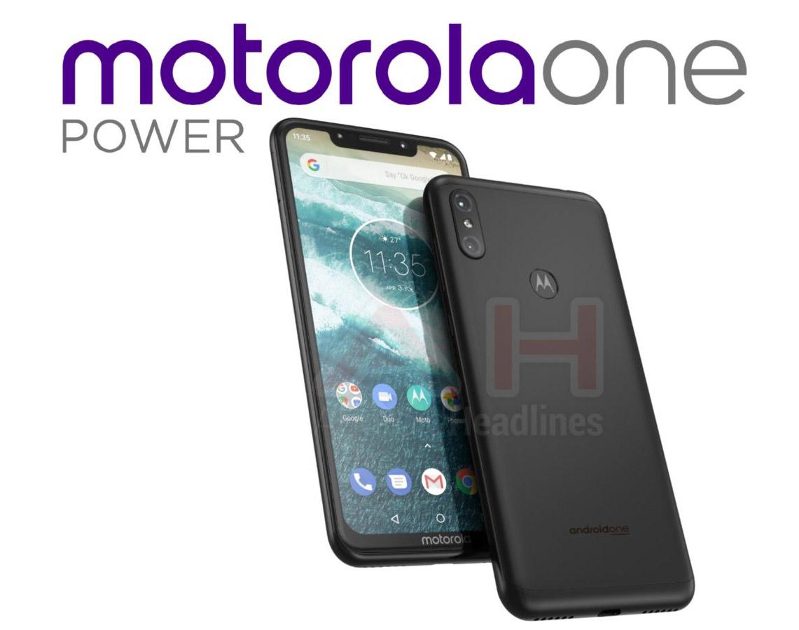 Así luce el Motorola One Power; notch, Android One y todo pantalla