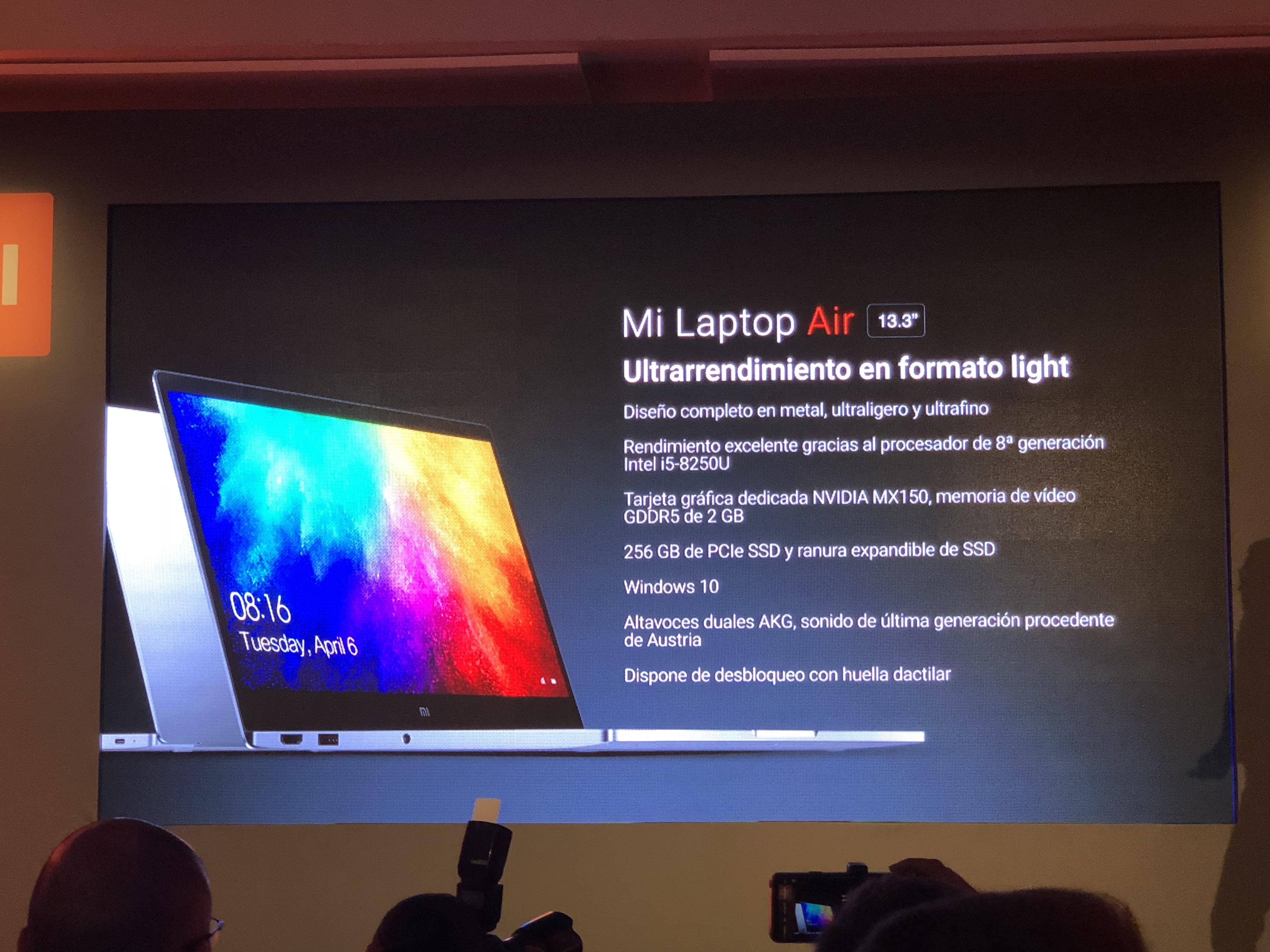 Llega Mi Laptop Air, el portátil ultraligero de Xiaomi, a España