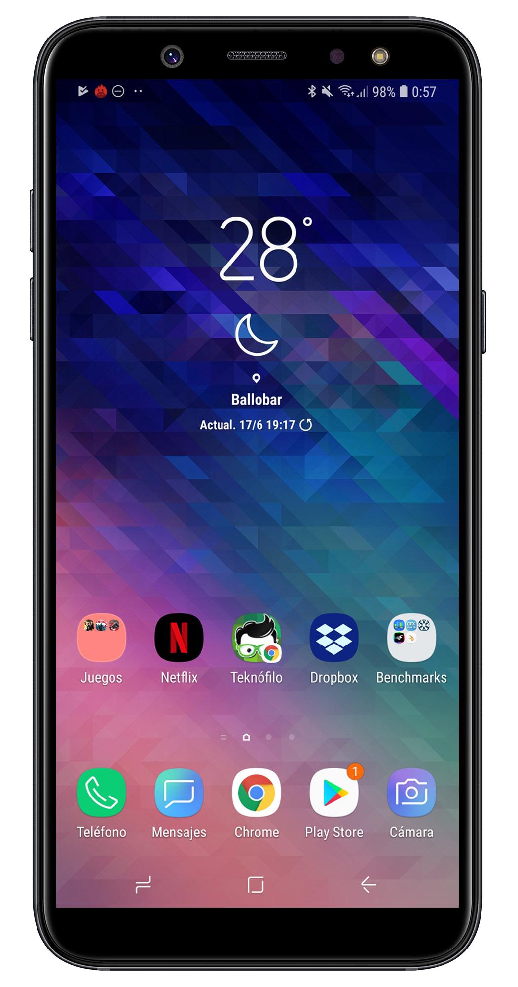 c36ef54aa01 La capa Samsung Experience ofrece un aspecto bastante atractivo, con un  diseño moderno y elegante.