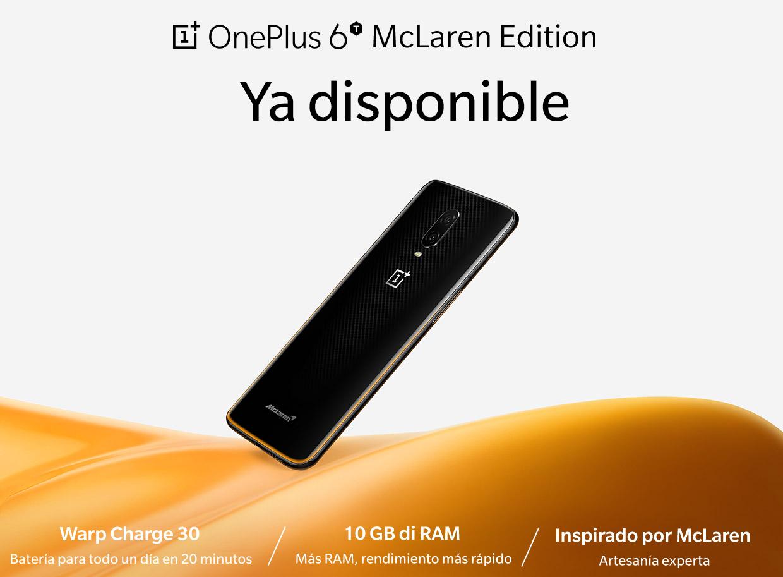 Ya tenemos el precio del OnePlus 6T McLaren y sus características