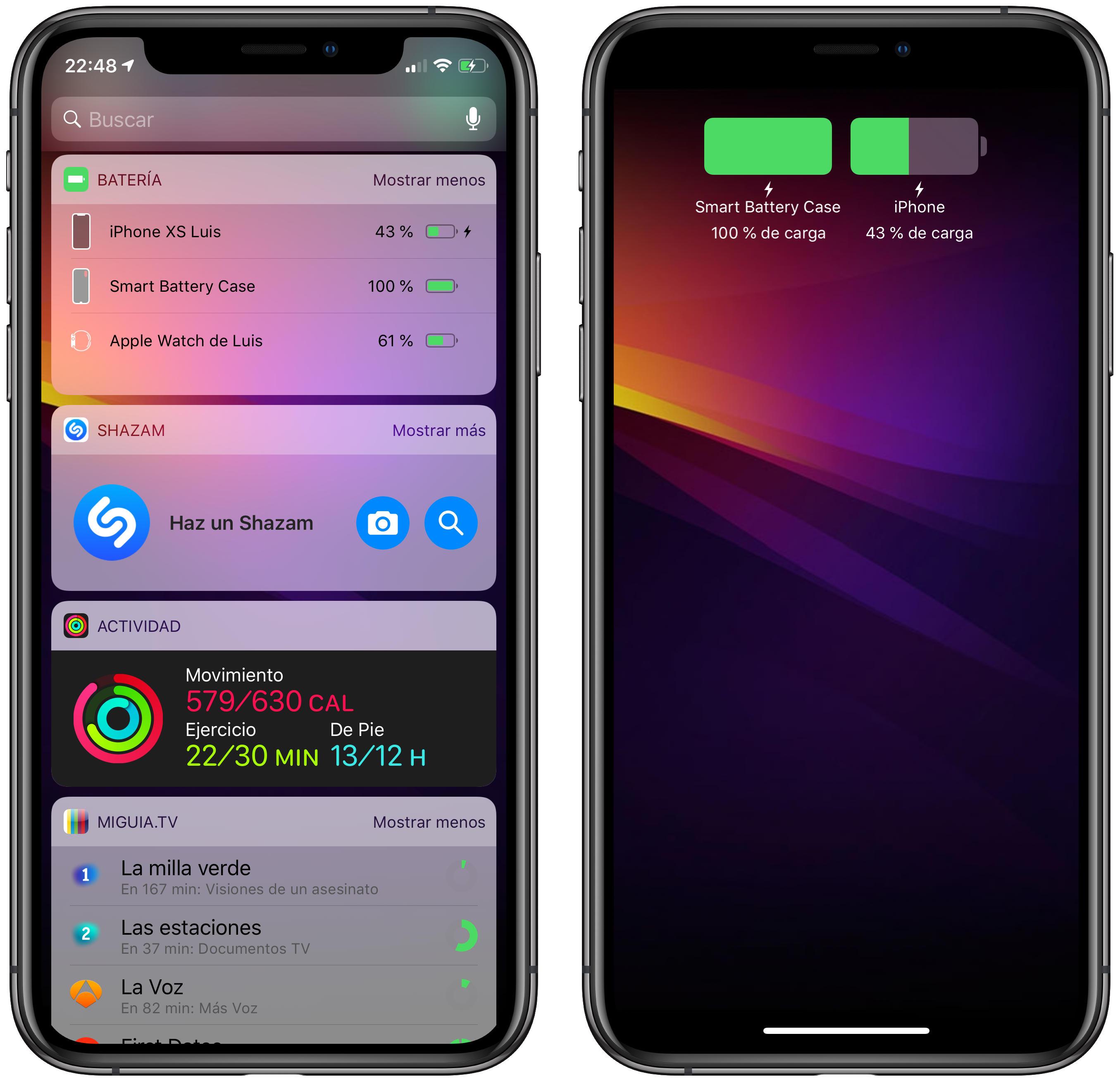 7e62a4f17ea Me hubiera gustado que Apple también mostrase la información sobre el  estado de la Smart Battery Case en el Centro de Control ya que, ...