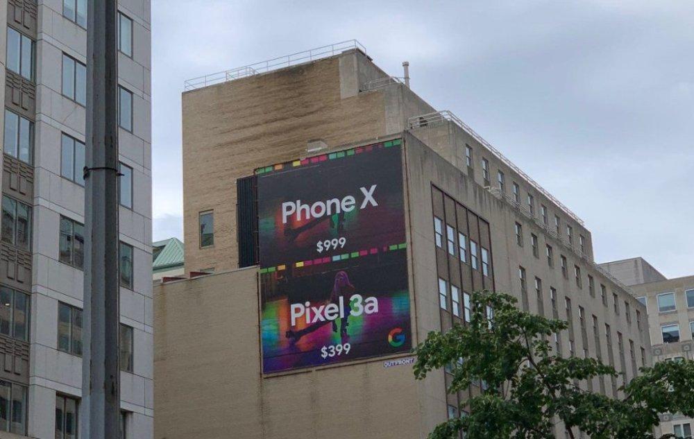 Anuncio Pixel 3a vs iPhone X