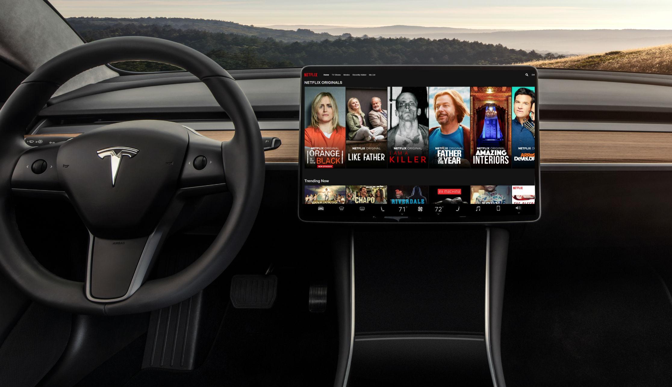Tesla añade Netflix y YouTube a sus coches