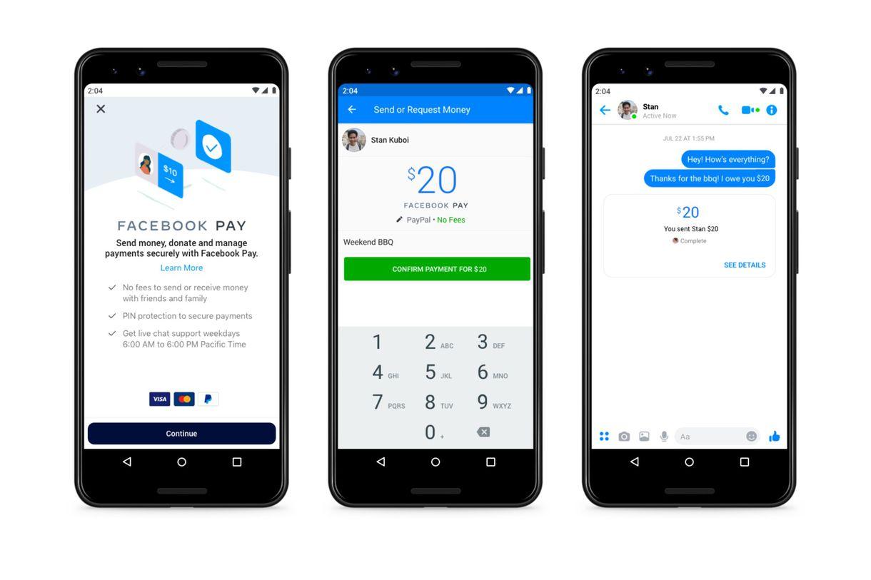 Los pagos móviles llegan a Facebook, WhatsApp y más — Facebook Pay
