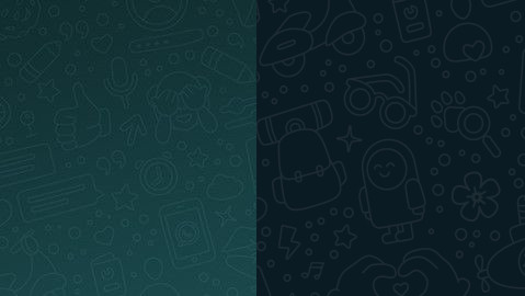Papel tapiz de Whatsapp en modo oscuro