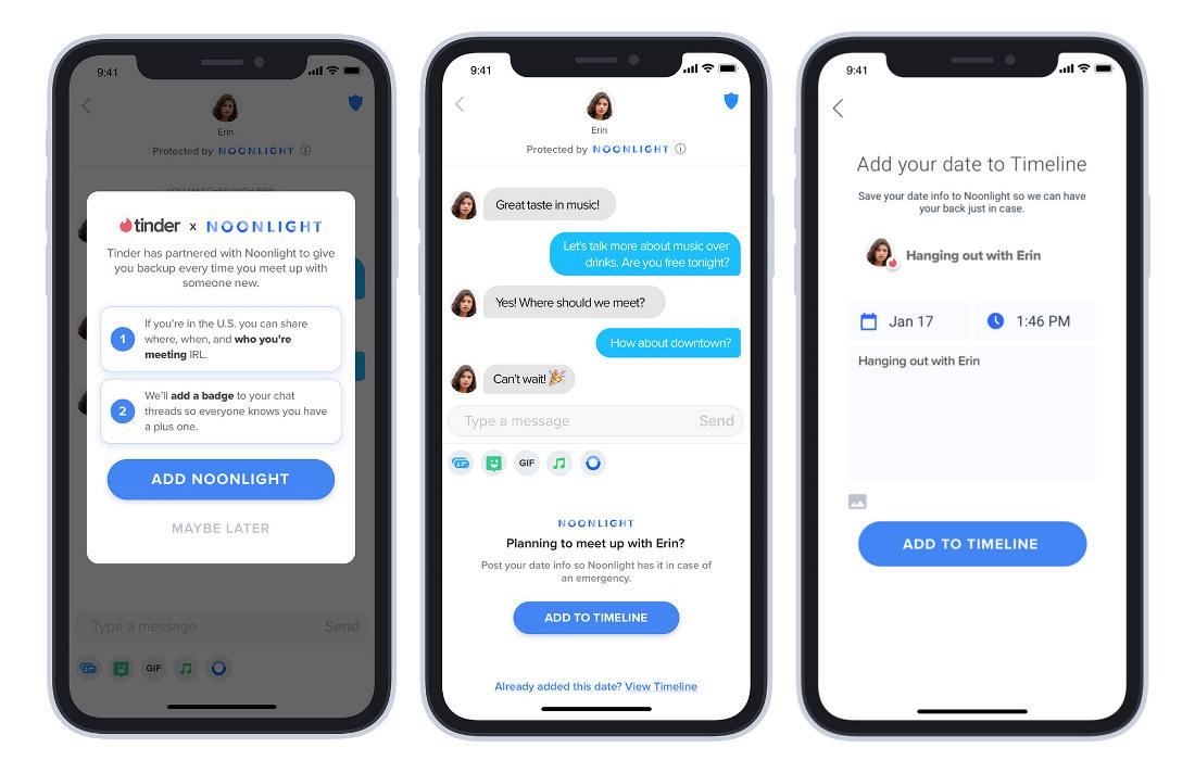 Tinder añade noonligth en su aplicacion