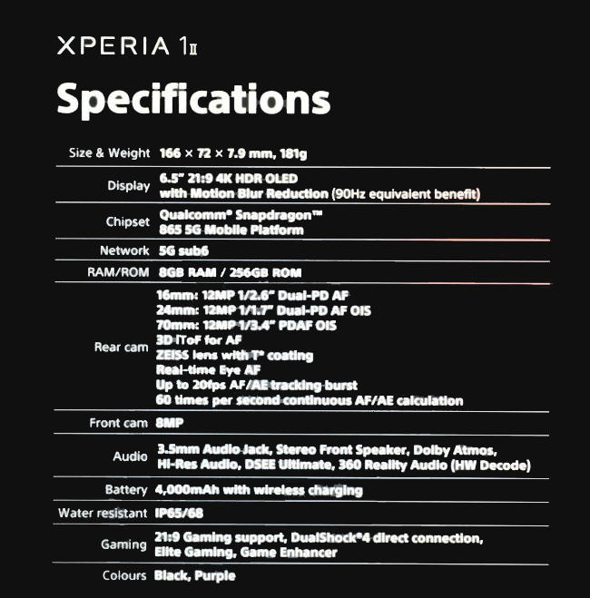 Sony Xperia 1 II: Un celular 4K con tecnología de cámara profesional