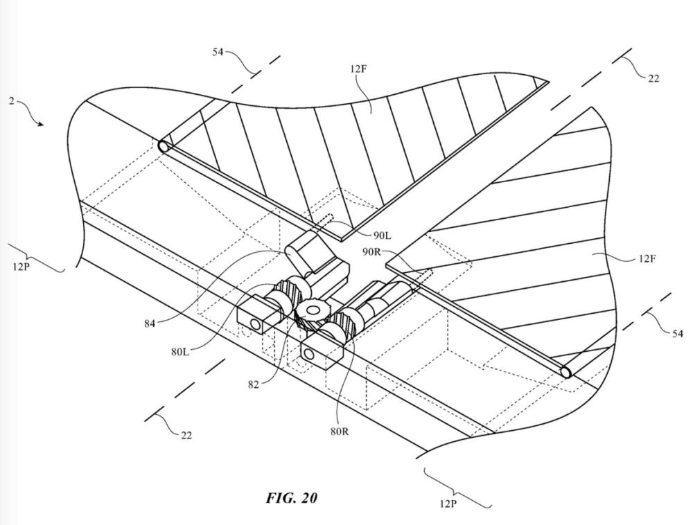 Patente Apple para bisagra de smartphone plegable